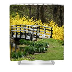 Golden Days Of Spring Shower Curtain