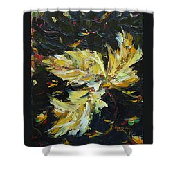 Shower Curtain featuring the painting Golden Flight by Judith Rhue