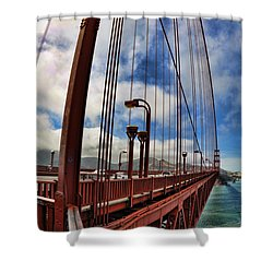 Shower Curtain featuring the photograph Golden Gate Bridge - 7 by Mark Madere