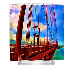 Shower Curtain featuring the photograph Golden Gate Bridge - 8 by Mark Madere