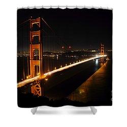 Shower Curtain featuring the photograph Golden Gate Bridge 2 by Vivian Christopher