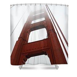 Golden Gate Bridge Shower Curtain by Cassie Marie Photography