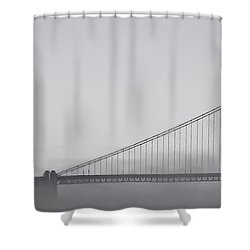 Shower Curtain featuring the photograph Golden Gate Morning by Don Schwartz