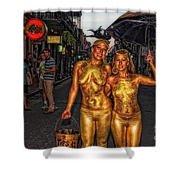 Golden Girls Of Bourbon Street  Shower Curtain by Kathleen K Parker