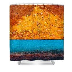 Golden Island  Shower Curtain by Mauro Celotti