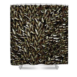 Golden Leaf Shower Curtain by David Dehner