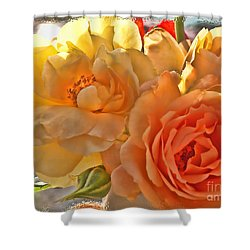 Shower Curtain featuring the photograph Golden Light by Debbie Portwood