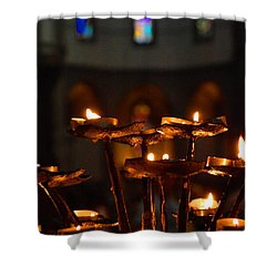 Shower Curtain featuring the photograph Golden Lights by Dany Lison
