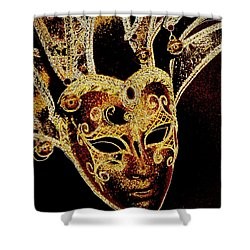 Golden Mask Shower Curtain