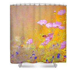 Shower Curtain featuring the photograph Golden Meadows by John  Kolenberg