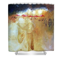 Golden Memories Shower Curtain