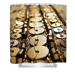 Golden Sequins Highway Shower Curtain by Sumit Mehndiratta