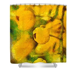 Golden Shower Shower Curtain