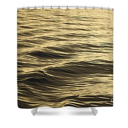 Shower Curtain featuring the photograph Golden Wave. by Clare Bambers
