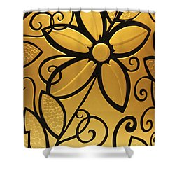 Goldenrod Shower Curtain by Shelley Neff