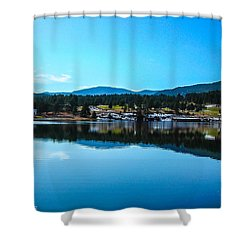Shower Curtain featuring the photograph Golf Course by Shannon Harrington