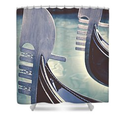 gondolas - Venice Shower Curtain by Joana Kruse