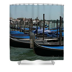 Shower Curtain featuring the photograph Gondolas by Laurel Best