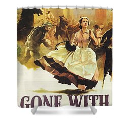 Gone With The Wind Shower Curtain by Georgia Fowler