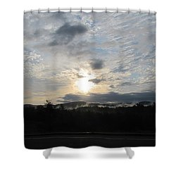 Shower Curtain featuring the photograph Good Morning New York State by Maciek Froncisz