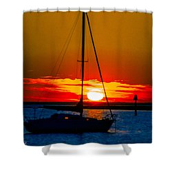 Shower Curtain featuring the photograph Good Night by Shannon Harrington