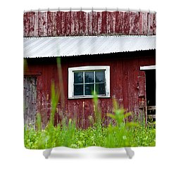 Good Ole Red Barn Shower Curtain by Karol Livote