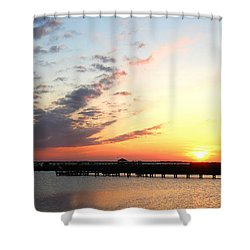 Shower Curtain featuring the photograph Goodnight Sound Vi by Linda Mesibov