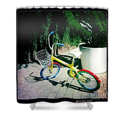 Shower Curtain featuring the photograph Google Mini Bike by Nina Prommer