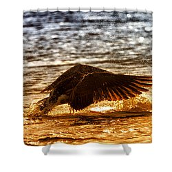 Goose Attack Shower Curtain