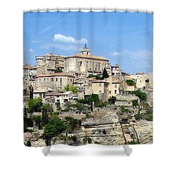 Shower Curtain featuring the photograph Gordes In Provence by Carla Parris