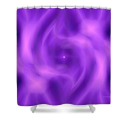 Got A Glow On Shower Curtain by Anastasia Pellerin