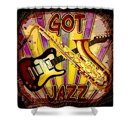 Got Jazz Abstract Shower Curtain by David G Paul