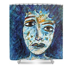 Got To Save The World Shower Curtain by Natalie Holland