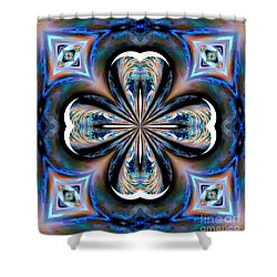 Gothic Blues Shower Curtain by Maria Urso