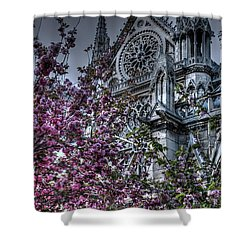 Shower Curtain featuring the photograph Gothic Paris by Jennifer Ancker