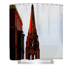 Gothic Spire Shower Curtain by Marie Jamieson