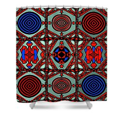 Gothic Wall Shower Curtain