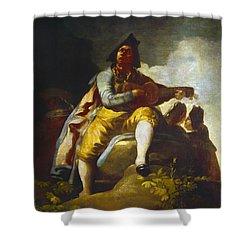 Goya: Guitarist Shower Curtain by Granger