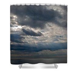 Gozo Skies Shower Curtain by Eric Tressler
