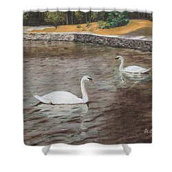 Graceful Swimmers Shower Curtain