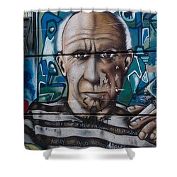 Shower Curtain featuring the digital art Graffii Alley by Carol Ailles