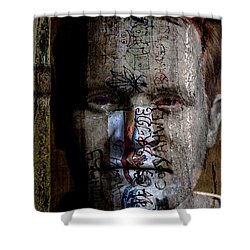 Graffiti Shower Curtain by Christopher Gaston