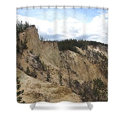 Grand Canyon Cliff In Yellowstone Shower Curtain by Living Color Photography Lorraine Lynch