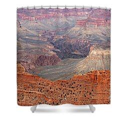 Grand Canyon Crimson Ridge Shower Curtain by Michael Kirsh