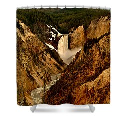 Grand Canyon Of The Yellowstone Shower Curtain by Ellen Heaverlo