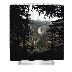 Shower Curtain featuring the photograph Grand Canyon Of The Yellowstone  by J L Woody Wooden