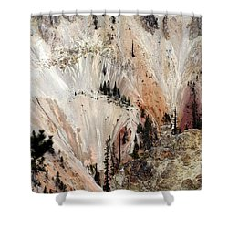 Grand Canyon Of Yellowstone Vertical Shower Curtain by Living Color Photography Lorraine Lynch