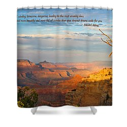 Grand Canyon Splendor - With Quote Shower Curtain