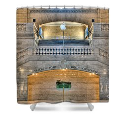 Grand Central Terminal East Balcony I Shower Curtain by Clarence Holmes