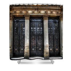 Grand Door - Leeds Town Hall Shower Curtain by Yhun Suarez